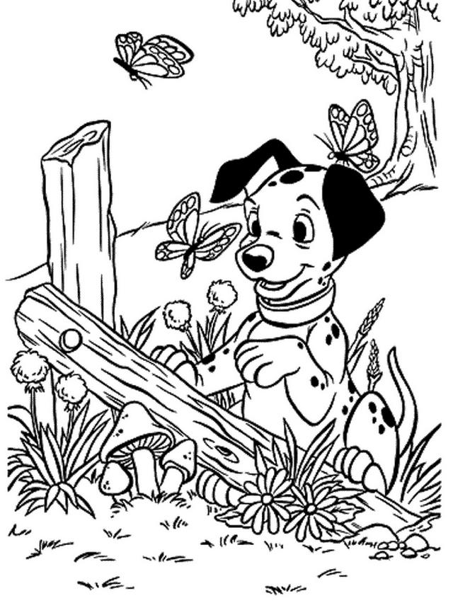 Coloriage 2 de Les 101 Dalmatiens à imprimer et colorier