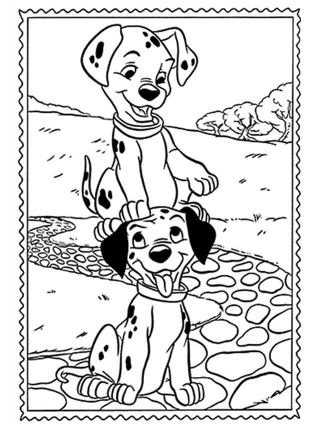 Coloriage 3 de Les 101 Dalmatiens à imprimer et colorier