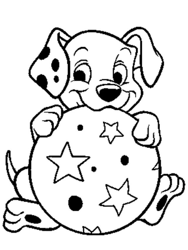 Coloriage 4 de Les 101 Dalmatiens à imprimer et colorier