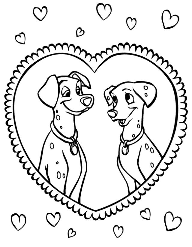 Coloriage 6 de Les 101 Dalmatiens à imprimer et colorier