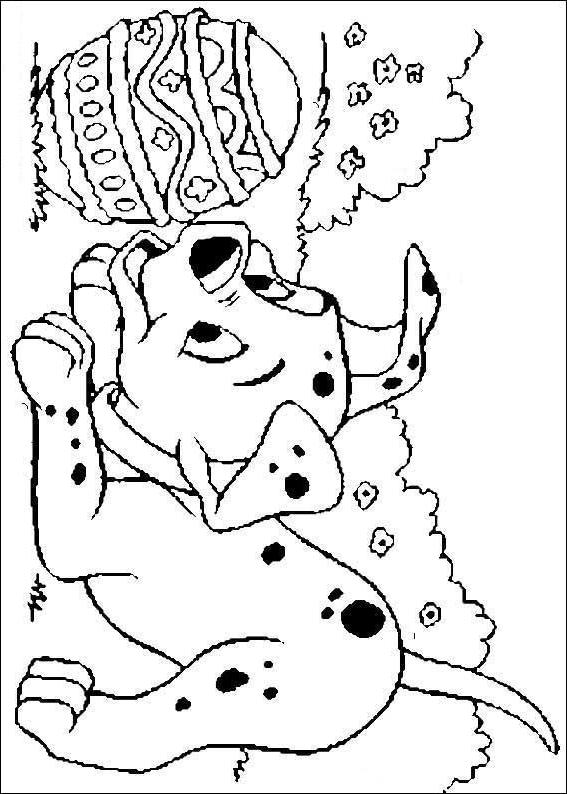 Coloriage 17 de Les 101 Dalmatiens à imprimer et colorier