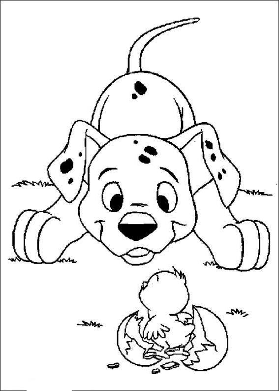 Coloriage 18 de Les 101 Dalmatiens à imprimer et colorier