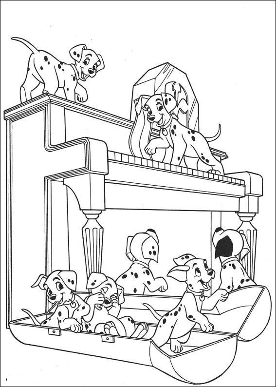 Coloriage 22 de Les 101 Dalmatiens à imprimer et colorier
