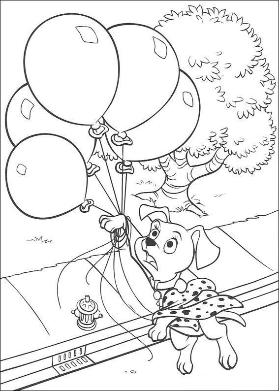 Coloriage 23 de Les 101 Dalmatiens à imprimer et colorier