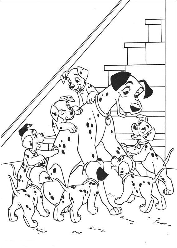 Coloriage 24 de Les 101 Dalmatiens à imprimer et colorier