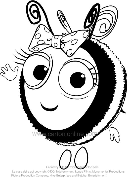 Disegno di rubee de la casa delle api da colorare for Disegni e prezzi della casa