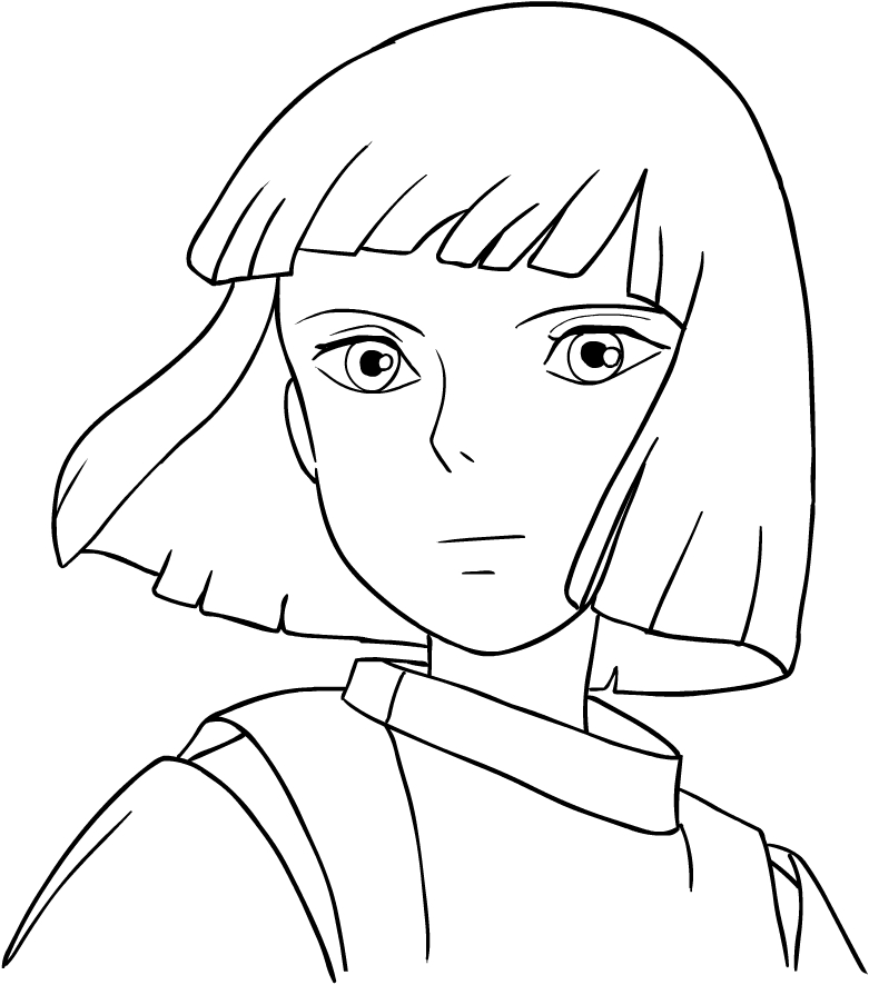 Haku From Spirited Away Coloring Page