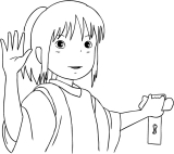 Spirited Away Coloring Page