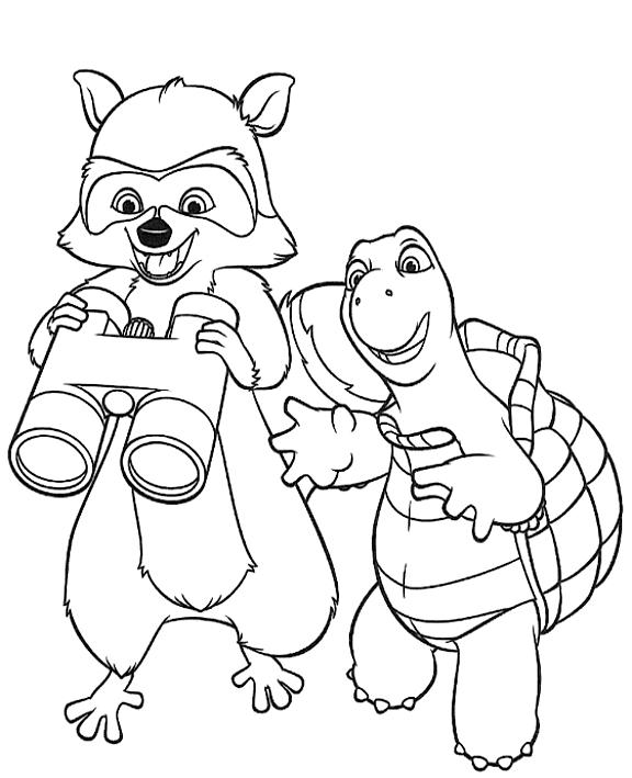 Dibujo 1 de La pandilla del bosque para imprimir y colorear