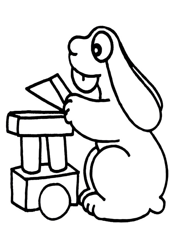 Disegno della Pimpa che gioca da stampare e colorare
