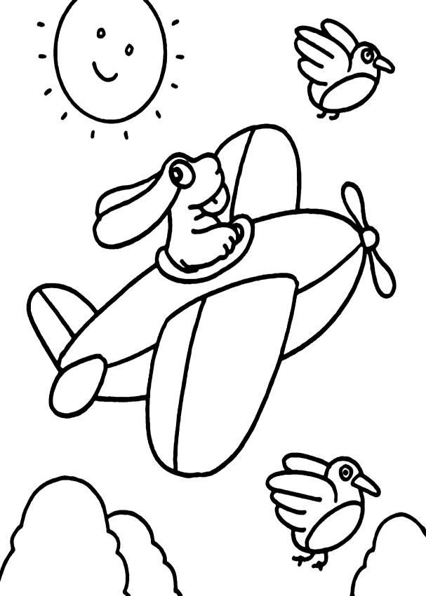 Disegno della Pimpa in aereo da stampare e colorare