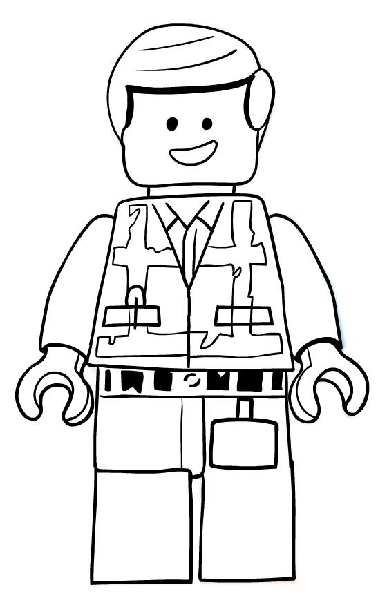 Disegno Di Emmet Di Lego Movie Da Colorare
