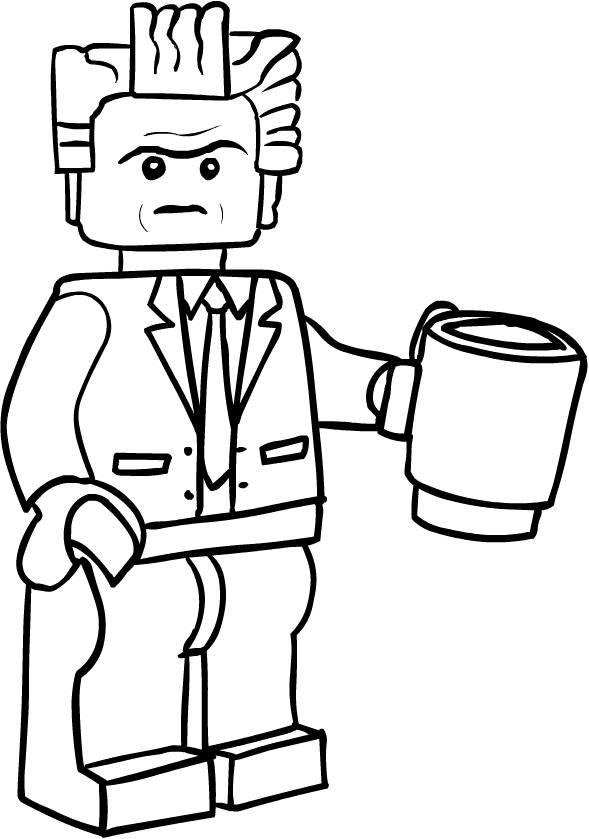 Disegno Di Presidente Business Di Lego Movie Da Colorare