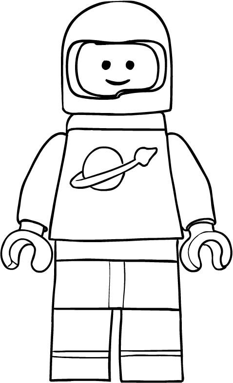 Disegno Di Benny L Astronauta Di Lego Movie Da Colorare