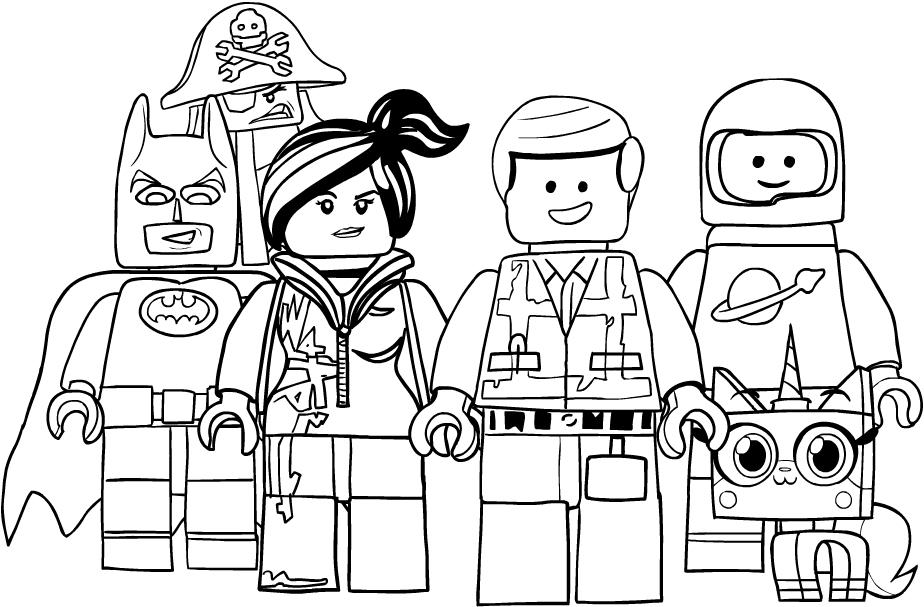 Disegno Dei Personaggi Di Lego Movie Da Colorare