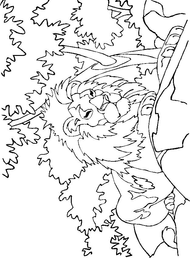 Disegno 10 di leoni da stampare e colorare