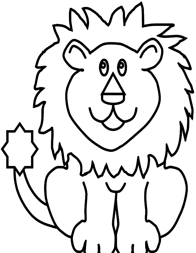 Disegno 15 di leoni da stampare e colorare