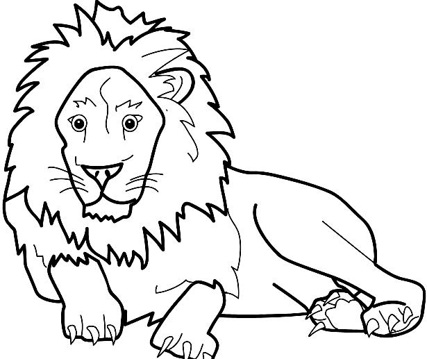 Disegno 16 di leoni da stampare e colorare