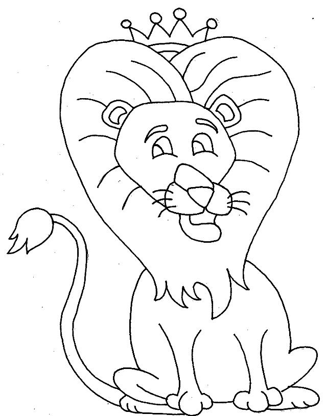 Disegno 17 di leoni da stampare e colorare