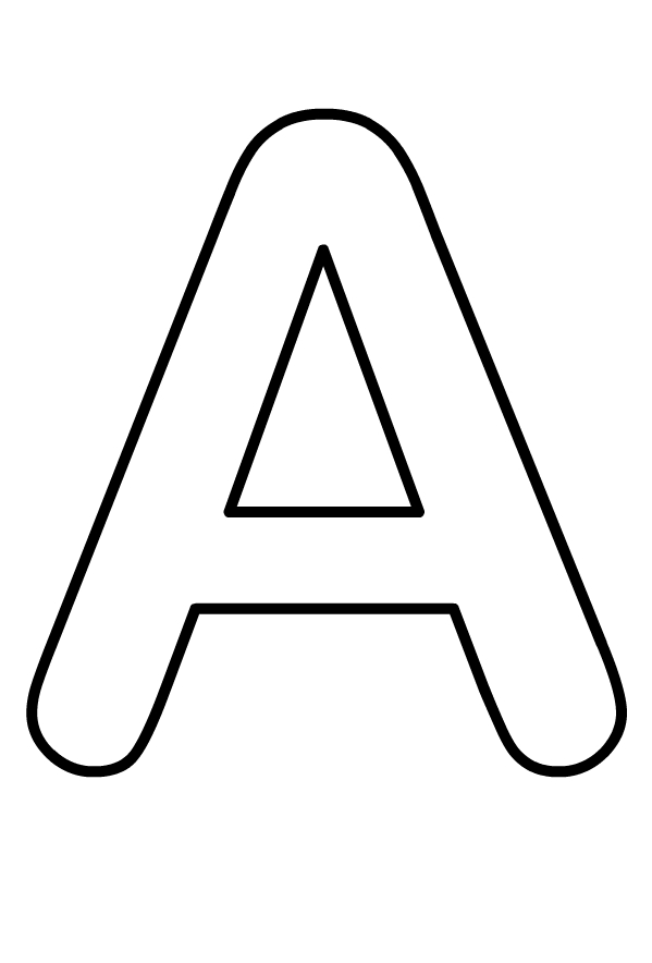 Ausmalbilder Grossbuchstabe A Des Alphabets