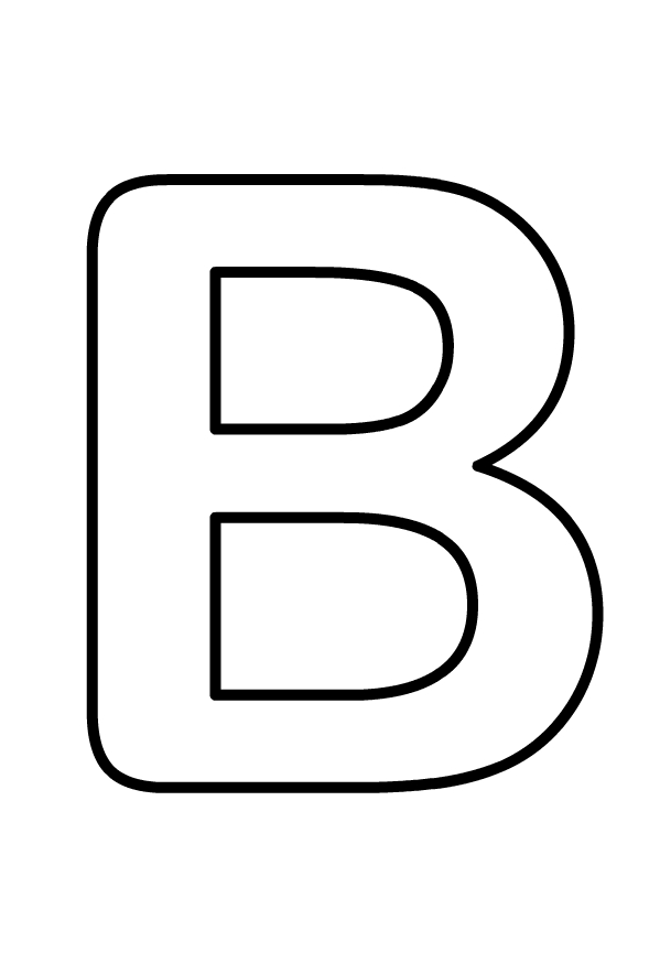 Hoofdletter B van het af te drukken en te kleuren alfabet