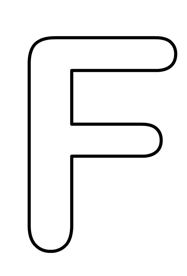 Hoofdletter F van het af te drukken en te kleuren alfabet
