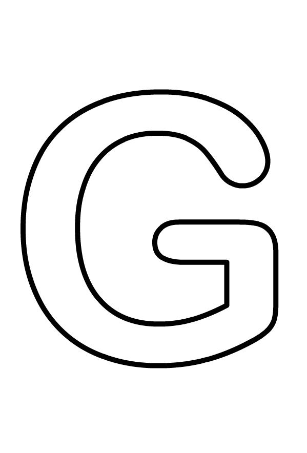 Hoofdletter G van het af te drukken en te kleuren alfabet