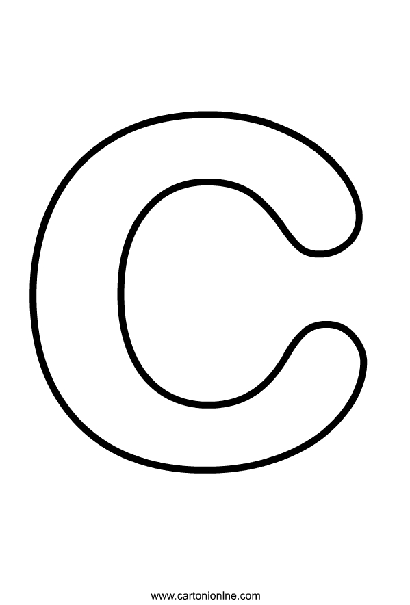 Ausmalbilder Kleinbuchstaben C des Alphabets zum Drucken und F rben