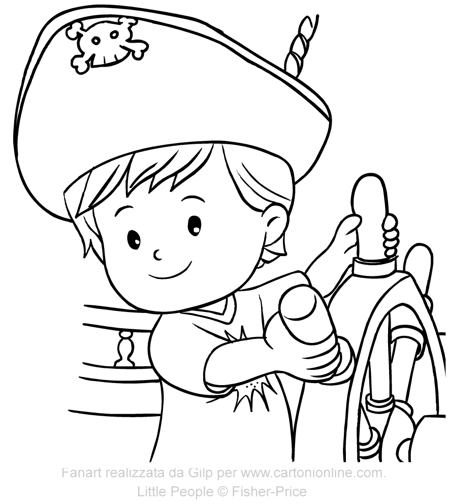 Dibujo del pirata Eddie de Little People para imprimir y colorear