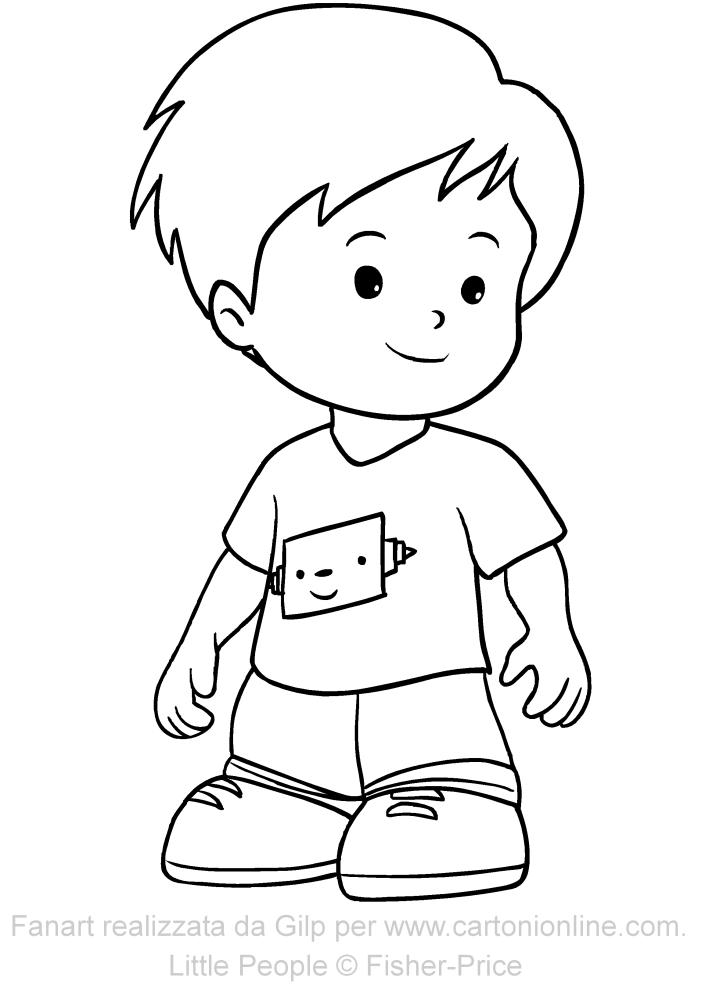 Kobi de Little People para imprimir y colorear