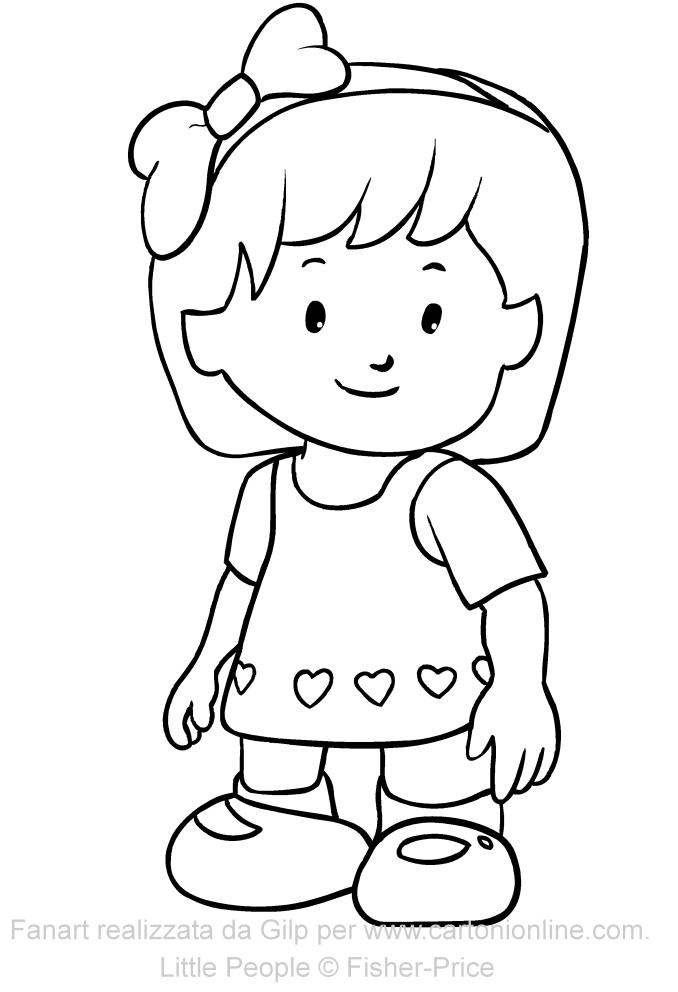 Dibujo de Mia de Little People para imprimir y colorear