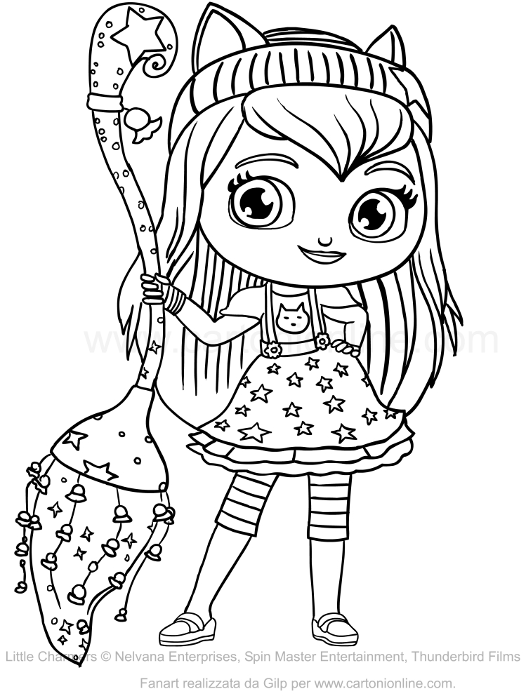 Disegno di hazel delle little charmers da colorare - Coloriage gratuit mini sorciere ...