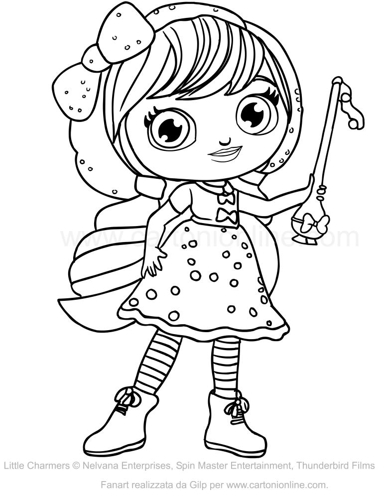 Disegno di lavender delle little charmers da colorare - Coloriage gratuit mini sorciere ...