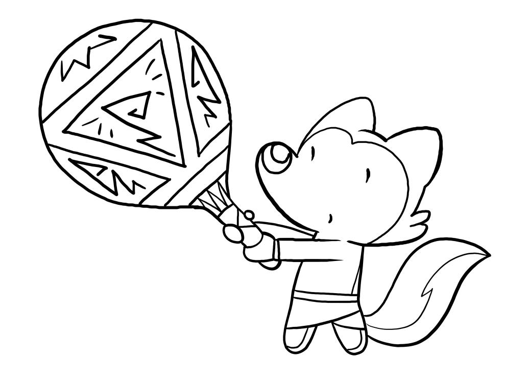 Suunnittelu Lupin's Tales tulostaa ja värittää