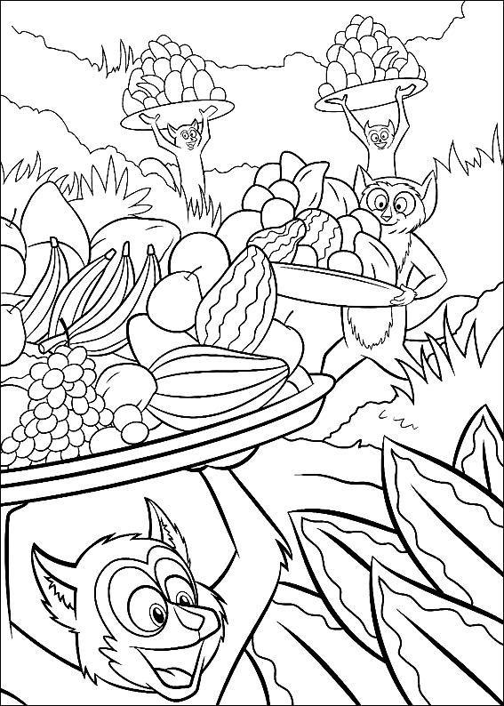 Disegno 5 di Madagascar da stampare e colorare