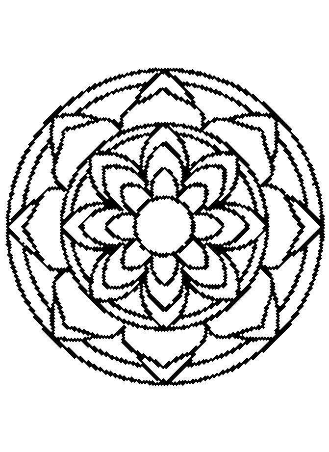 Disegni Da Colorare Mandala Da Stampare.Disegno 9 Di Mandala Da Colorare