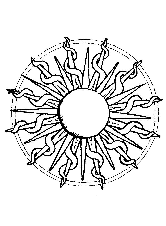 Disegni Da Colorare Mandala Da Stampare.Disegno 12 Di Mandala Da Colorare