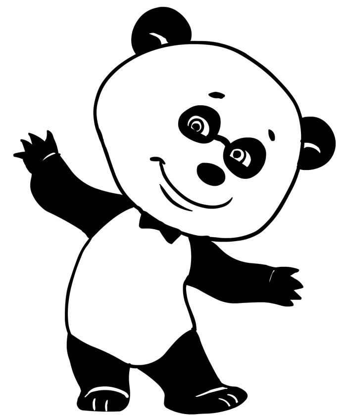 Disegno da colorare dell 39 orsetto panda amico di masha e orso for Masha e orso disegni da colorare