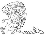 Dibujo de Masha Snegurochka