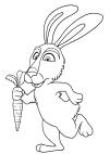 Dibujo de conejo - amigo de Masha y el oso