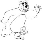 Dibujo de Masha y el oso