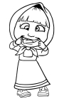 Dibujo de Masha con muecas