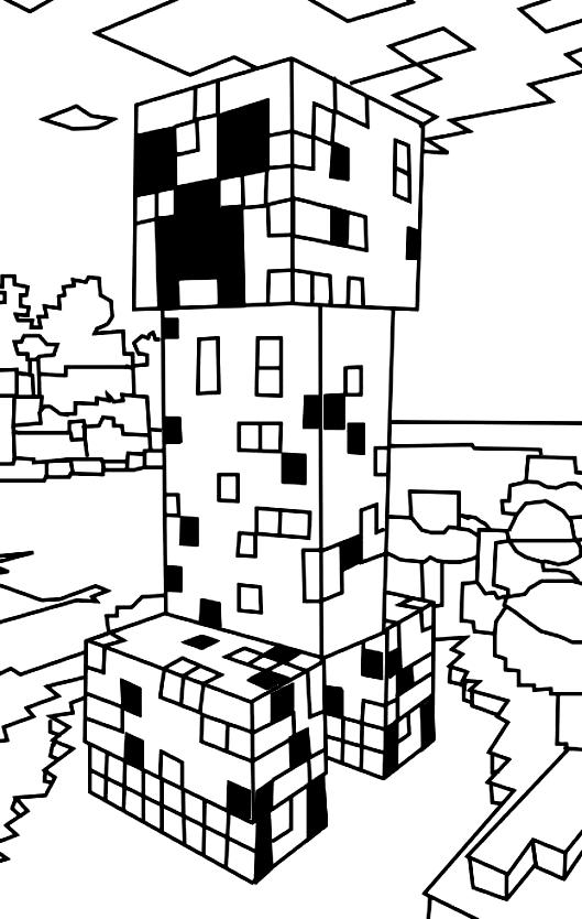Desenho 2 De Minecraft Para Colorir