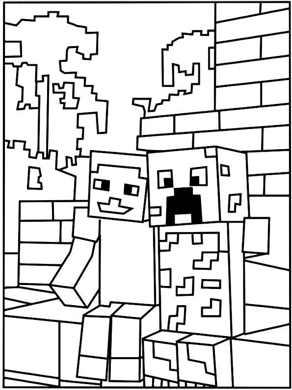 minecraft描画15ぬり絵