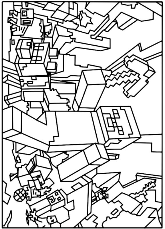 Coloriage16deMinecraft imprimeretcolorier