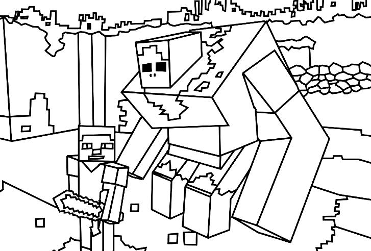 Disegno Di Minecraft Da Colorare