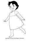 Desenho de Heidi para colorir e imprimir