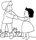 Desenho de Heidi e Peter para colorir e imprimir