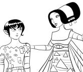 Desenho de Mo e Maylada para colorir