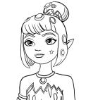 Desenho de Yuko para colorir e imprimir